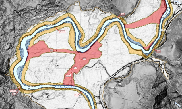 Coquille River, Oregon, Channel Migration Map