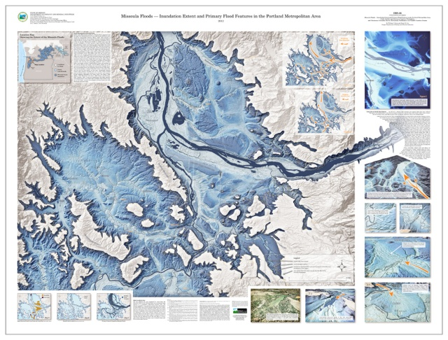 Missoula Floods - Inundation Extent and Primary Flood Features in the Portland Metropolitan Area