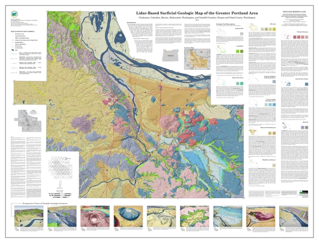 Lidar-based Surficial Geologic Map of the Greater Portland, Oregon, Area