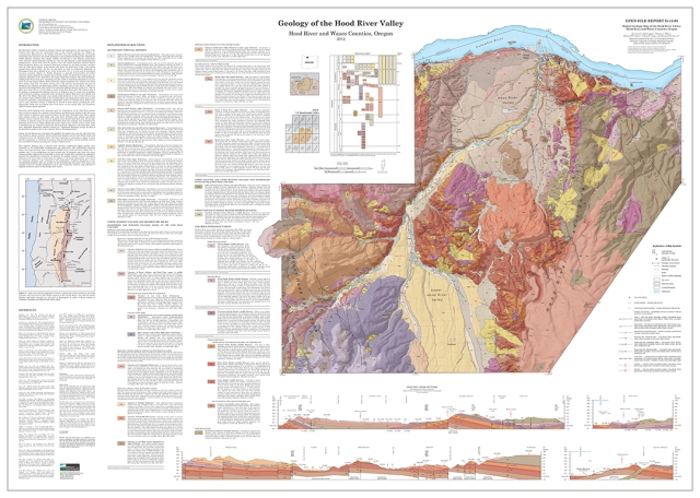 Geology of the Hood River Valley, Hood River and Wasco Counties,