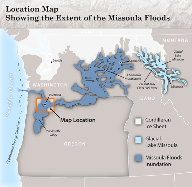 IMS-36, Missoula Floods - Inundation Extent and Primary Flood Fe
