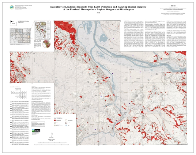 DOGAMI Interpretive Map 53, Inventory of Landslide Deposits from