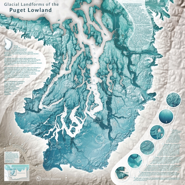 Glacial Landforms of the Puget Lowland